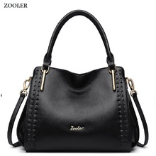 ZOOLER BRAND quality Genuine Leather bag Handbags top handle women bags whole cowhide women messenger bag 2017 new#1119 zooler bags handbags women famous brand crossbody bag small superior cowhide leather messenger bag for lady mini bag 3821