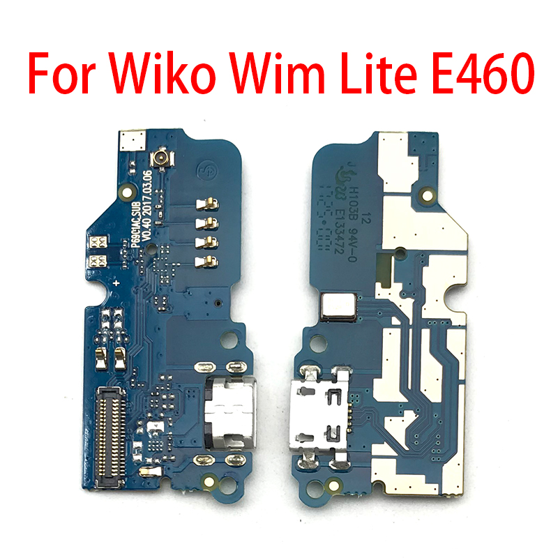 New For Wiko Wim Lite E460 Micro USB Charger Dock Connector Charging Port Microphone Flex Cable Replacement Parts