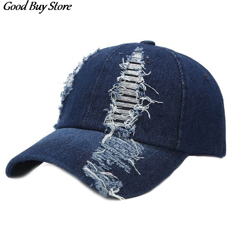 Jeans Baseball Cap Blue Denim Snapback Outdoor Golf Running Summer Visors Hat Sports Cycling Fashion Golf Caps Gorras Casquette