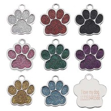 Collar-Accessories Engraving Metal Keyring Name-Tags Anti-Lost-Pendant Dog-Id-Tag Pet-Cat
