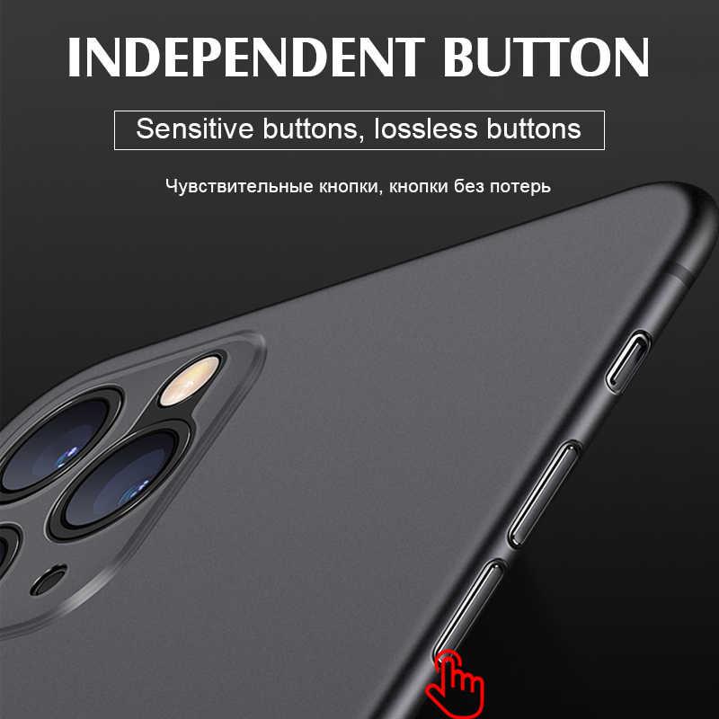 Luxus Stoßfest 0,3 MM Ultra Dünne Fall Für iphone 11 Pro X XS XR Max Matte TPU Abdeckung Für iphone 8 7 6 6s Plus Weiche Fall Abdeckung