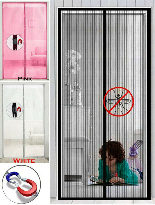 Faroot Summer Mesh Hands-Free Magnetic Automatic Closing Screen Door Anti Bug Mosquito Fly Insect Curtain