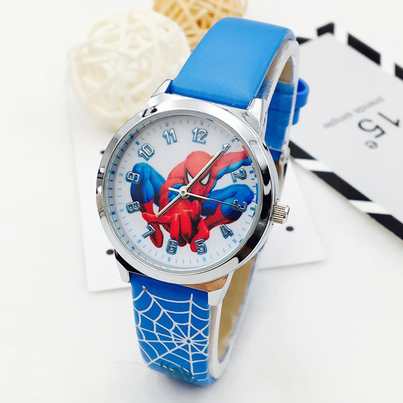 High Quality Montre Enfant Boys Watches Spiderman Cartoon Quartz Sports Watch Boy Watches Children Gift Clock Relogio Infantil