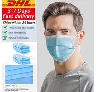 DHL Anti Pollution 3 Laye Mask dust protection Masks Disposable Face Masks Elastic Ear Loop Disposable Dust Filter Safety Mask