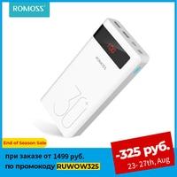 ROMOSS-Banco de energía Sense 8P +, 30000mAh, PD QC 3,0, carga rápida, cargador de batería externa portátil para iPhone y Xiaomi Mi