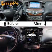 Radio multimedia con GPS para coche, radio con navegador, Android 12,1, Tesla, 8,1 pulgadas, sin reproductor de DVD, para Infiniti QX60 JX35 2003-2012