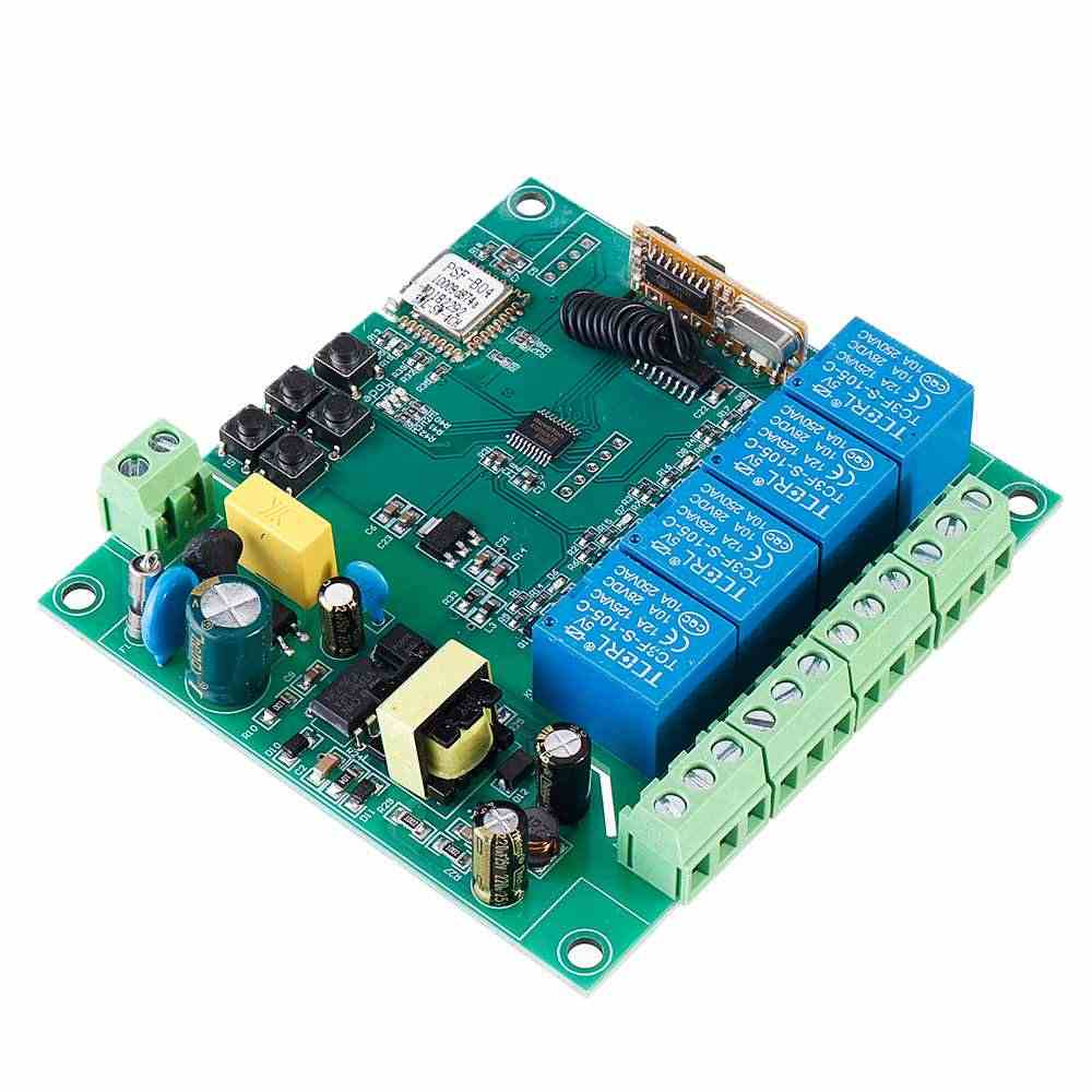 4CH 3500W 10A 433MHz APP WiFi รีโมทคอนโทรลรีเลย์โมดูลมอเตอร์ย้อนกลับ Controller สนับสนุนระยะไกลควบคุม