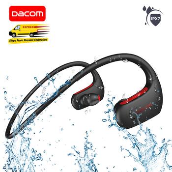DACOM L05 sport słuchawki Bluetooth Bass IPX7 wodoodporny bezprzewodowy zestaw słuchawkowy z mikrofonem do iPhone Xiaomi Huawei tanie i dobre opinie Z pałąkiem na kark Dynamiczny CN (pochodzenie) wireless 92±3dBdB 0Nonem do telefonu komórkowego Do gier wideo Słuchawki HiFi