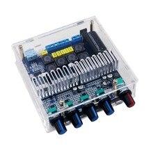 Tpa3116 placa amplificadora de áudio estéreo, bluetooth 5.0, placa 2.1, channel high power home, amplificador de áudio 2*50w + 100w bass amp