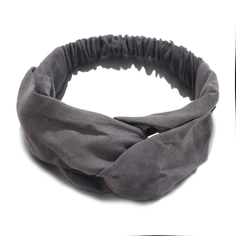 2019 Lady stroik Plaid Bow pałąk Turban elastyczne nakrycie głowy chusta na głowę kobiety akcesoria do włosów dla kobiet paski opaski do włosów