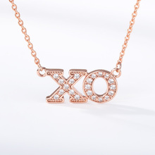 XO Necklace Stainless Steel Gold Alphabet Tiny Letter Jewelry Hugs and kisses Gifts For Women