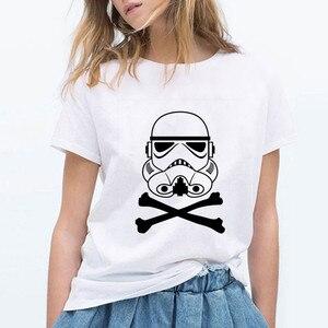 Stormtrooper Star Wars Impressão T shirt Ocasional Das Mulheres da forma Das Senhoras O-pescoço Tops Tees Harajuku T-shirt das Mulheres Camiseta Femme