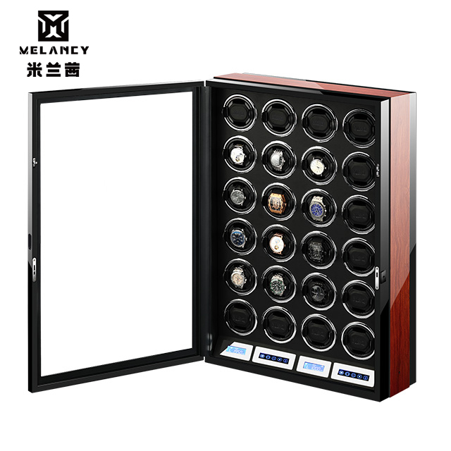 watch winder box watch display watch winder watch collector with LED touch screen display