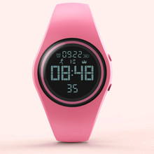 2019 Top Fashion Colorful Sport Smart Watch Pedometer Smart Digital-Watch Kebugaran Kalori Wanita Tahan Air Kreatif Jam Tangan(China)