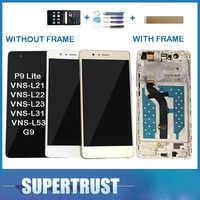 Con/sin marco Original para Huawei G9 P9 Lite VNS-L21 VNS-L22 VNS-L23 VNS-L31 pantalla LCD + pantalla táctil de vidrio + kit