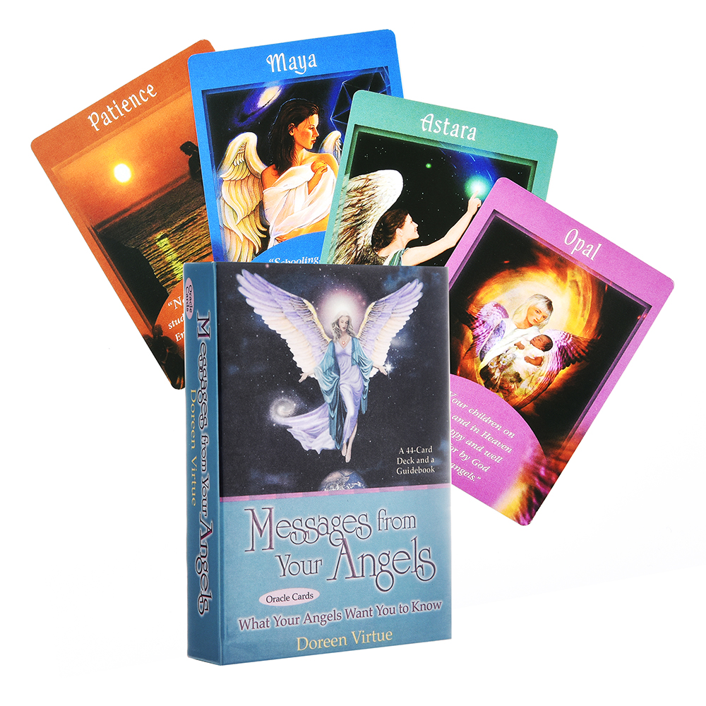 Messages from Your Angels What Your Angels Want You to Know Tarot Oracle Cards Board Game Toys Collectible for Children Gifts image