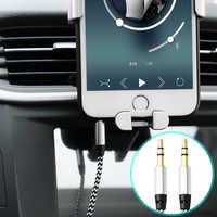 Cable auxiliar del amplificador del coche de la trenza de Nylon Cable de Audio de 3,5mm 1M para el auricular de tableta del teléfono del coche Cable de extensión de Audio más fuerte