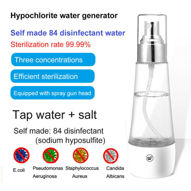 Disinfection Spray Sterilizing Hypochlorous Acid Water Making Machine Bottle