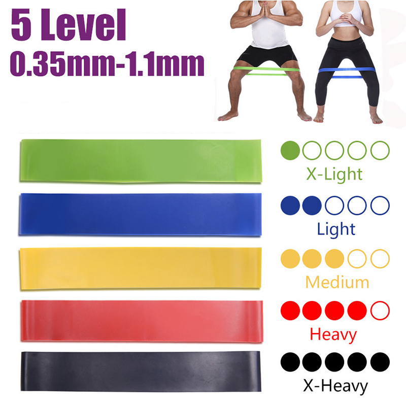 5 Level Yoga Crossfit Resistance Bands Rubber Training Pull Rope Sport Loops Training Exercises Elastic Bands Workout Equipment