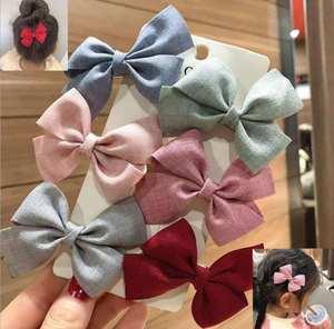 Headwear Bow Hairpins Hair-Accessories Hairgripsj128 Girls Women Korea Lovely 6pcs/Set