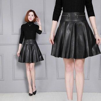 2018 New Fashion Genuine Sheep Leather Skirt K29 2019 new fashion genuine sheep leather skirt e46