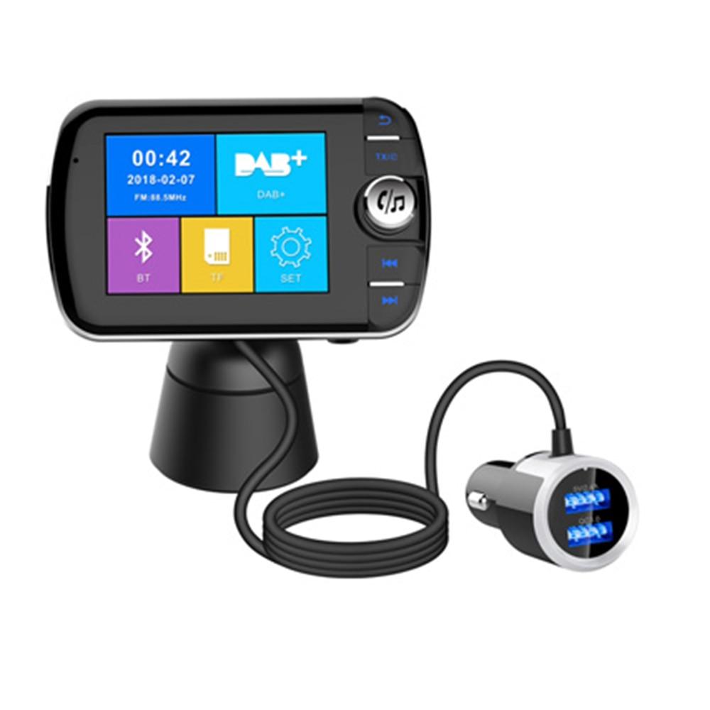 DAB004 voiture Bluetooth lecteurs de musique DAB Radio numérique intelligente Bluetooth 4.2 lecteur MP3 FM transmetteur adaptateur Plug and Play