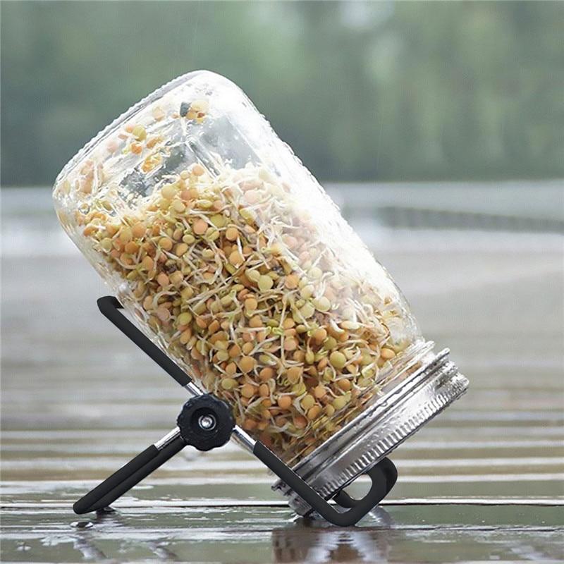 1 компл. Проращивание семян крышка комплект проращивания Мейсон банки с ситечком из нержавеющей стали крышки из нержавеющей стали проращиватель Стэн|Детские горшки|   | АлиЭкспресс
