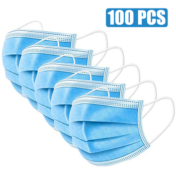 Mask 3 Layer Non-woven Protective Face Thickened Disposable Masks PM001 - discount item  56% OFF Workplace Safety Supplies