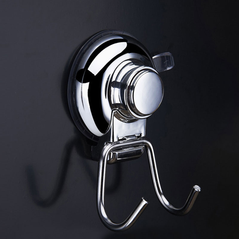 Powerful Vacuum Durable Strong Transparent Suction Cup Wall Hooks Free Seamless Nail Hook Hanger For Home Bathroom Kitchen Wall