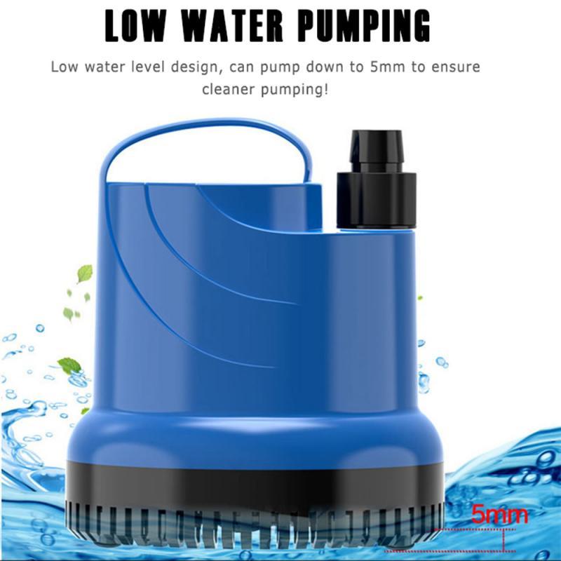 Aquarium Amphibious Bottom Suction Pump Multi Functional Submersible Water Pump Fish Tank Fountain Water Filter 220V