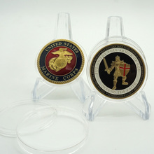 Put on the Whole Armor of God medal the United States marine corps challenge Enamel coin the marine planning activities of united states ports
