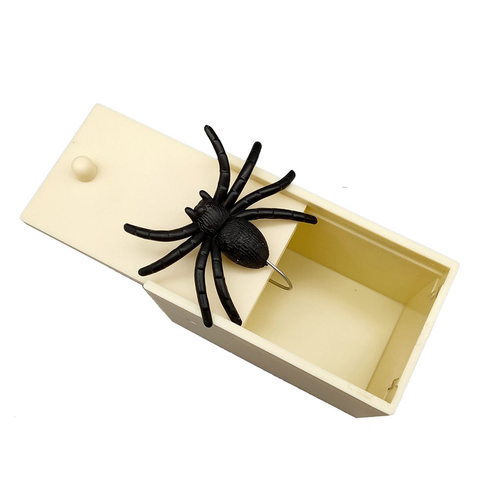 April Fool's Day Gift Plastic Trick Practical Joke Home Office Scare Toy Box Gag Spider Mouse Scorpion Kids Funny Gift