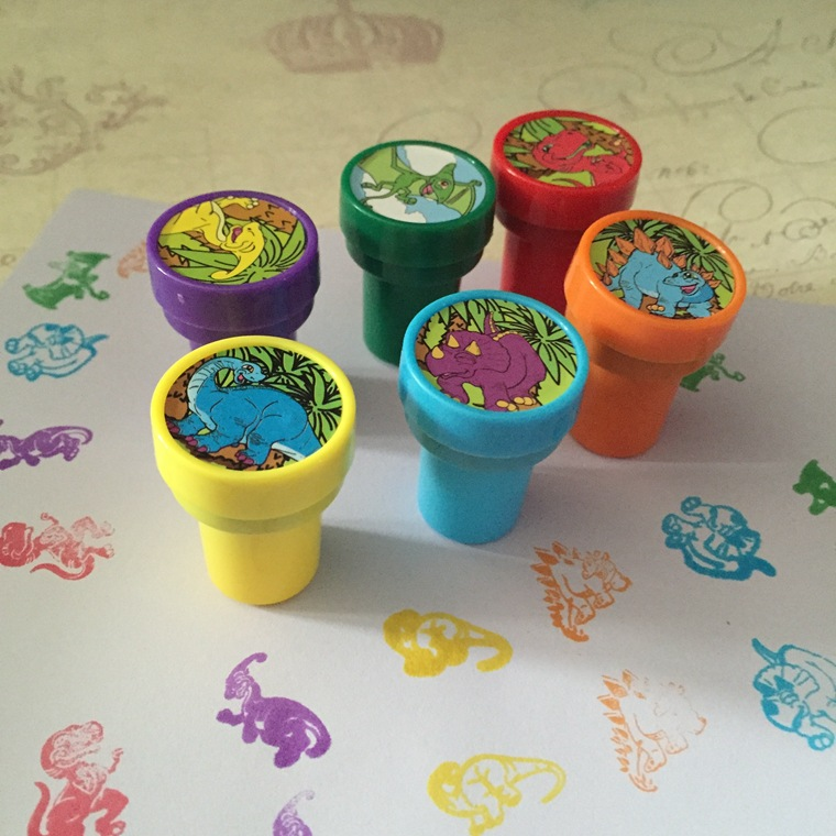 6pcs/Set Children Toy Stamps Cartoon Dinosaur Series Kids Seal For Scrapbooking Stamper DIY Cartoon Party Stamper Kawaii Toys