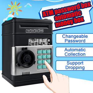 Image 2 - Electronic Piggy Bank ATM Password Money Box Cash Coins Saving Box ATM Bank Safe Box Automatic Deposit Banknote Christmas Gift