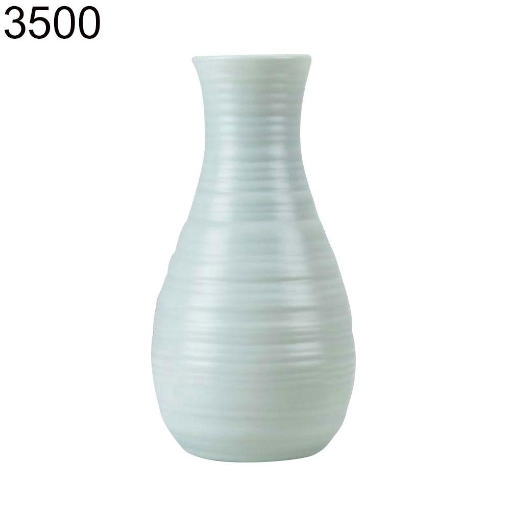 Пластиковый Небьющийся цветочный горшок ваза Современная Кабинет Прихожая Свадьба домашний офис Декор Настольная Ваза - Цвет: Green 3500