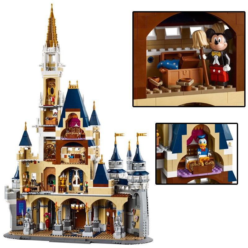 New Lepinblocks 16008 Friends Compatible 71040 Lepining Princess Disneys Castle City Model Building Blocks Girl Gift Bricks