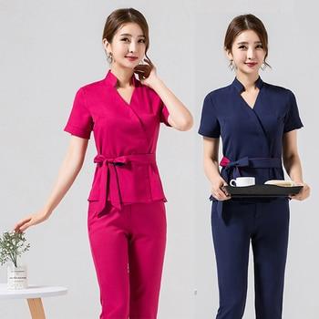 Spa uniform for beauty salon for the cosmetologist thai massage smocks for work Beauty uniforms foot bath technician costume set