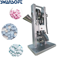 SWANSOFT Single Tablet Punch Die Press Machine Sugar Pill Machine Candy Stamping Making Pressing Mold Making Machine