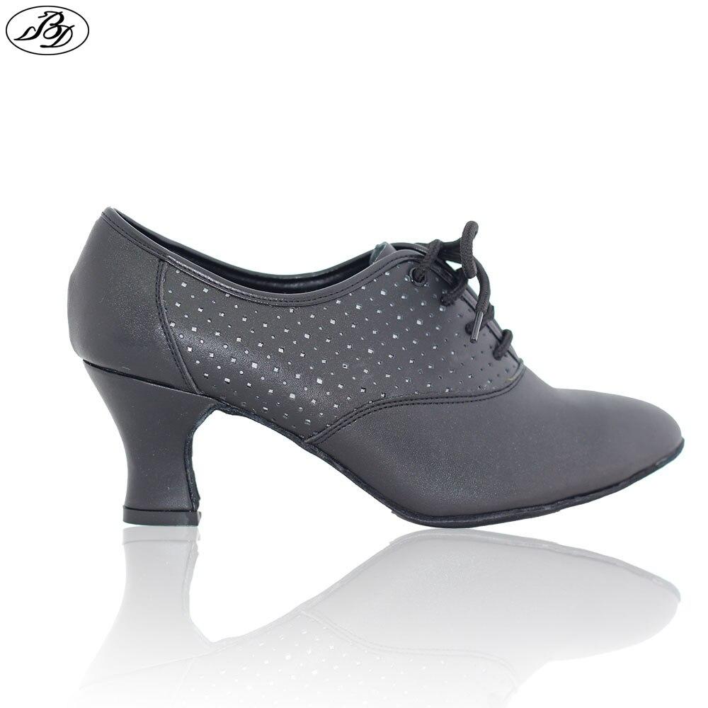 Pre order Dancesport Shoe BD Dance Shoes T3 Women Ballroom Dancing Shoes Ladies Teaching Shoe Practice Leather Sole-in Dance shoes from Sports & Entertainment    1