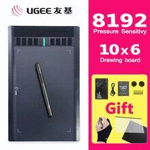 UGEE M708 8192 seviyeleri grafik çizim tableti dijital Tablet imza ped cetvel kalemi yazma boyama için Pro tasarımcı wacom