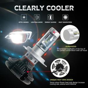 Image 3 - PANUDUK автомобильный светильник зэс H4 светодиодный H7 H11 3000K 6000K 8000K HB3 9005 HB4 9006 светодиодные лампы для автомобильных фар светодиодный головной светильник s лампочки 50 Вт 6000LM фары авто X3