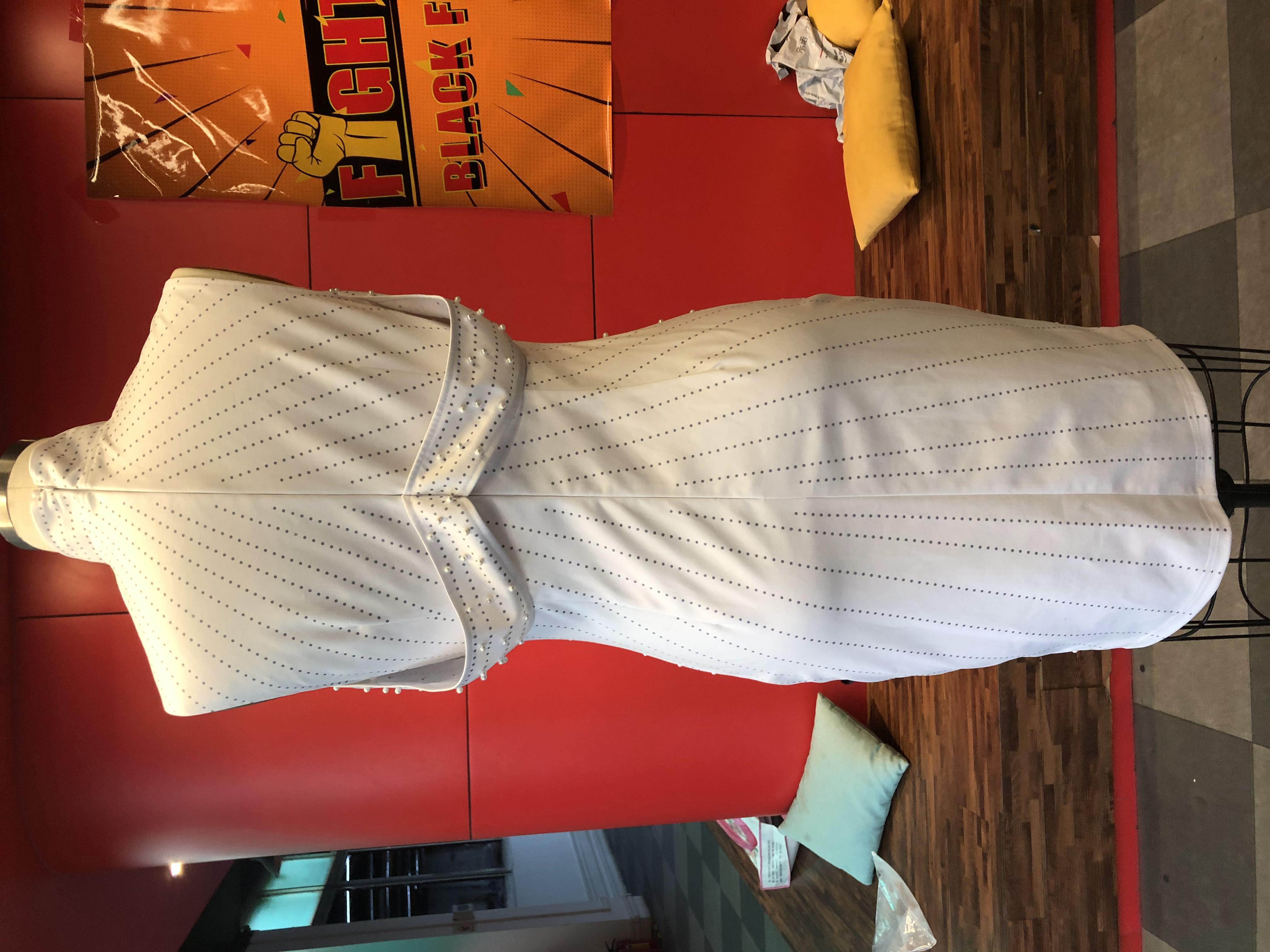 Beading White Plus Size Bodycon Dress 5xl 2020 Sexy Party Dinner Club Midi Dresses Robe Elegant Split Female Vestiosds Summer 4