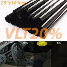 цена на 20% Black Car Window Tint Tinting Film Roll Car Auto Home Window Glass Summer Solar UV Protector Sticker Films parasole auto