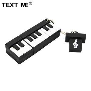 Image 5 - TEXT ME pen drive USB 2.0 com desenhos musicais, instrumento musical piano violão nota violino 4GB 8GB 16GB 32GB 64GB U disk