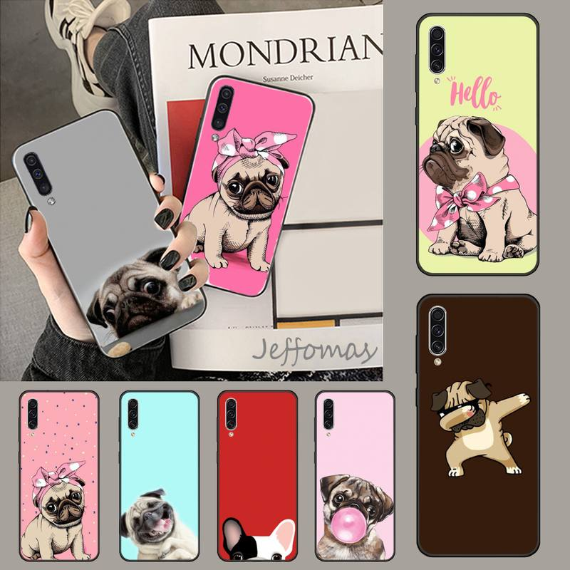 Cute cartoon <font><b>dog</b></font> pug DIY Painted Bling Phone <font><b>Case</b></font> For <font><b>Samsung</b></font> A20 A30 30s A40 A7 2018 J2 <font><b>J7</b></font> prime J4 Plus S5 Note 9 10 Plus image