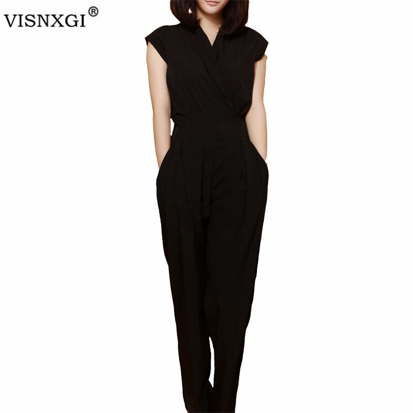Feminino Jumpsuit Female Rompers Womens Sexy Bodycon Chiffon One Piece Jumpsuits Fashion Solid Overalls For Women Trousers S151