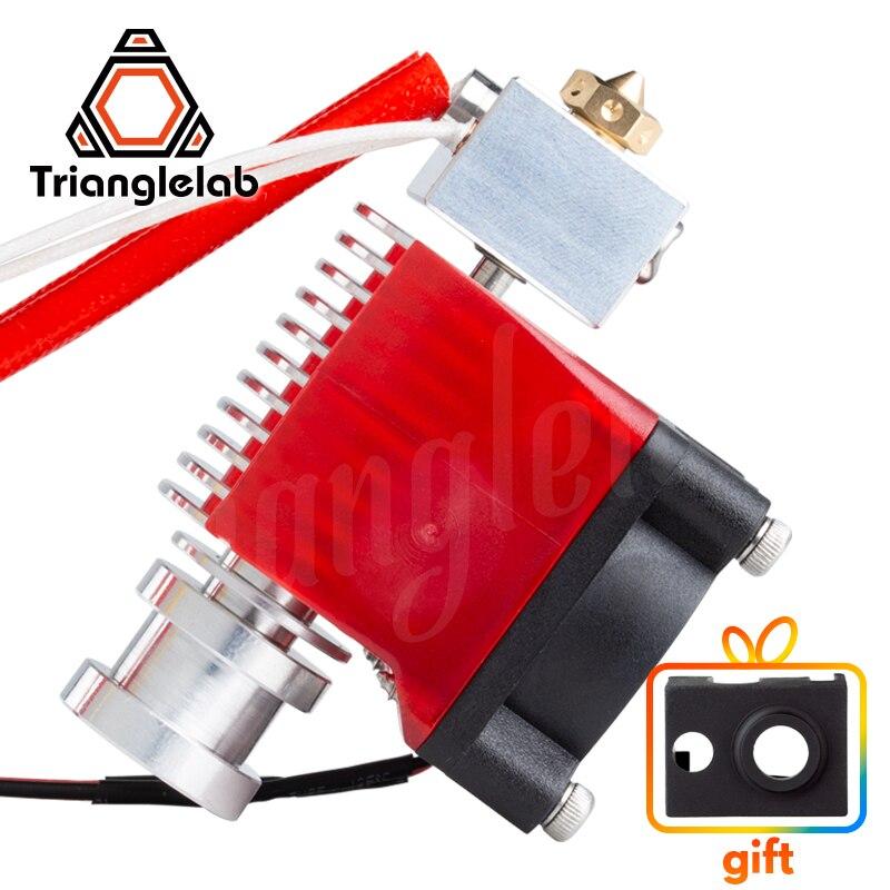 Trianglelab Highall-Metal V6 Hotend 12 V/24 V Remote Bowen Cetak J-Kepala Hotend dan Pendinginan fan Bracket untuk E3D Hotend untuk PT100