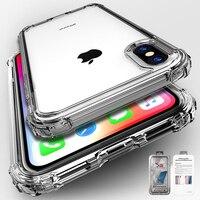 Funda transparente de TPU a prueba de golpes para iPhone, carcasa ultrafina de silicona suave, para modelos 12, 11 Pro, XS Max, SE, 2, XR, X, 8, 7, 6, 6S Plus