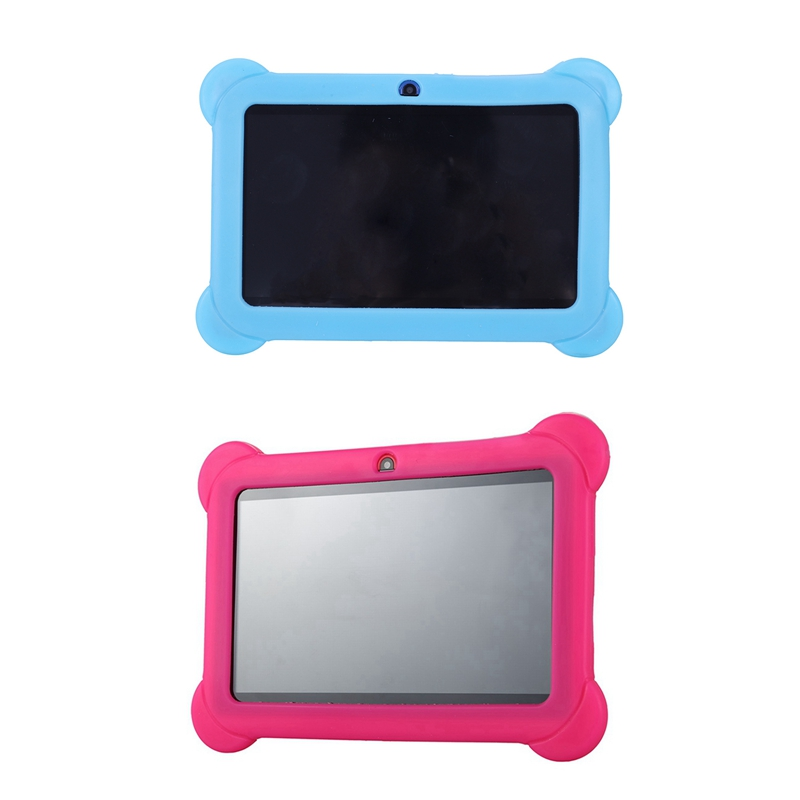 2 Pcs 4GB Android 4.4 Wi-Fi Tablet PC Beautiful 7 Inch Five-Point Multitouch Display - Special Kids Edition Pink & Blue