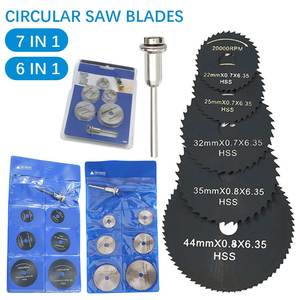 7 in 1 / 6 in 1 Metal HSS Circular Saw Blade High Speed Steel Woodworking Cutting Discs For Dremel Rotary Tool Durable Quality